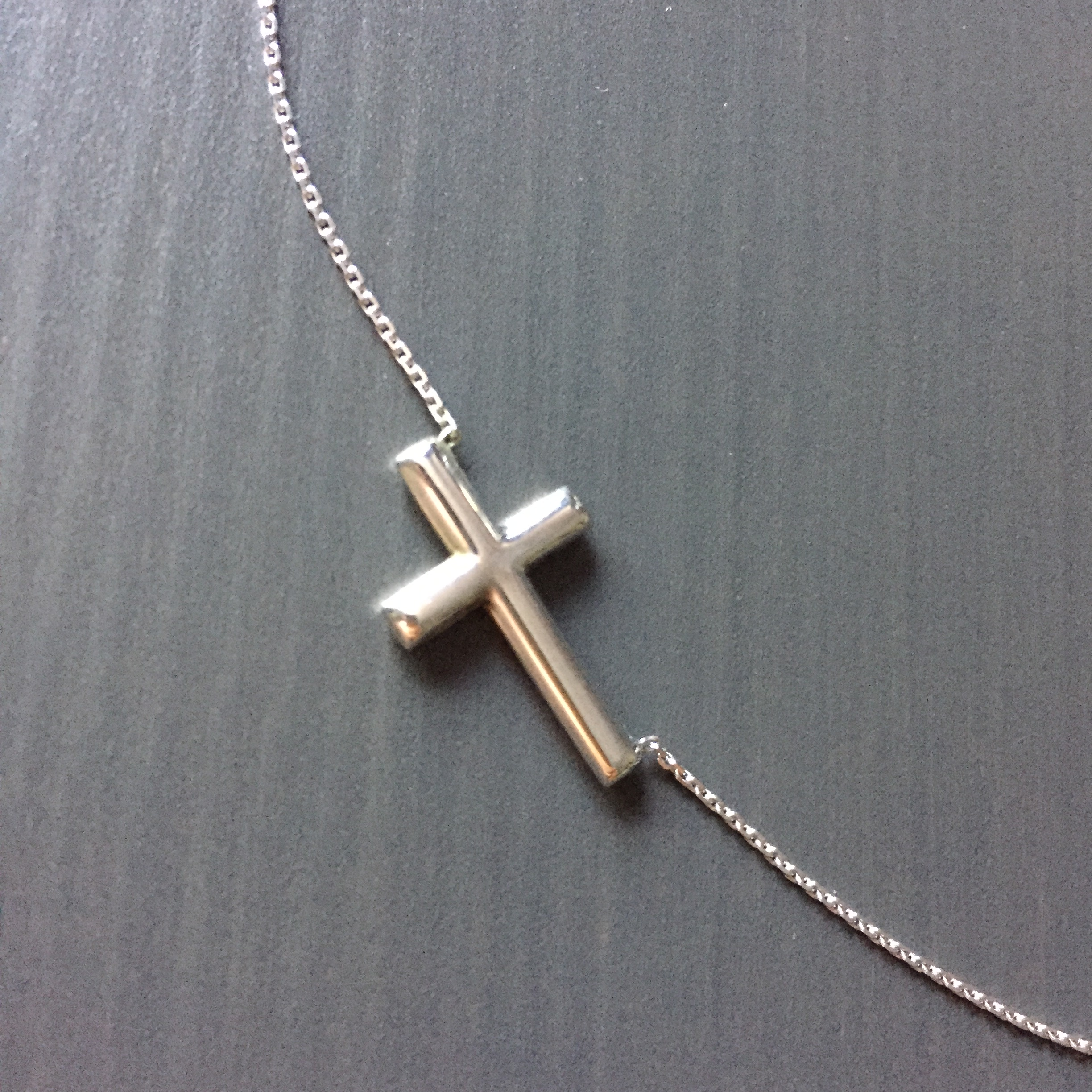 small sterling silver sideways cross necklace liftuplift
