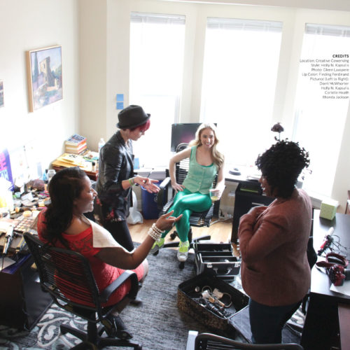 In March 2015, when the liftUPlift team struggled to find stock images for the site that depicted diverse, empowered women in action, they rallied 22 of Chicago's most powerful women leaders together for a photoshoot. The event, sponsored by Creative Coworking (venue) and Finding Ferdinand (makeup), was a defining moment for liftUPlift. Since then, Corielle and her team have made it part of their mission to create a culture that authentically represents women and inspires girls to love themselves and each other. No stock photos are used on liftUPlift.com; instead, real photos of real women fill the site.