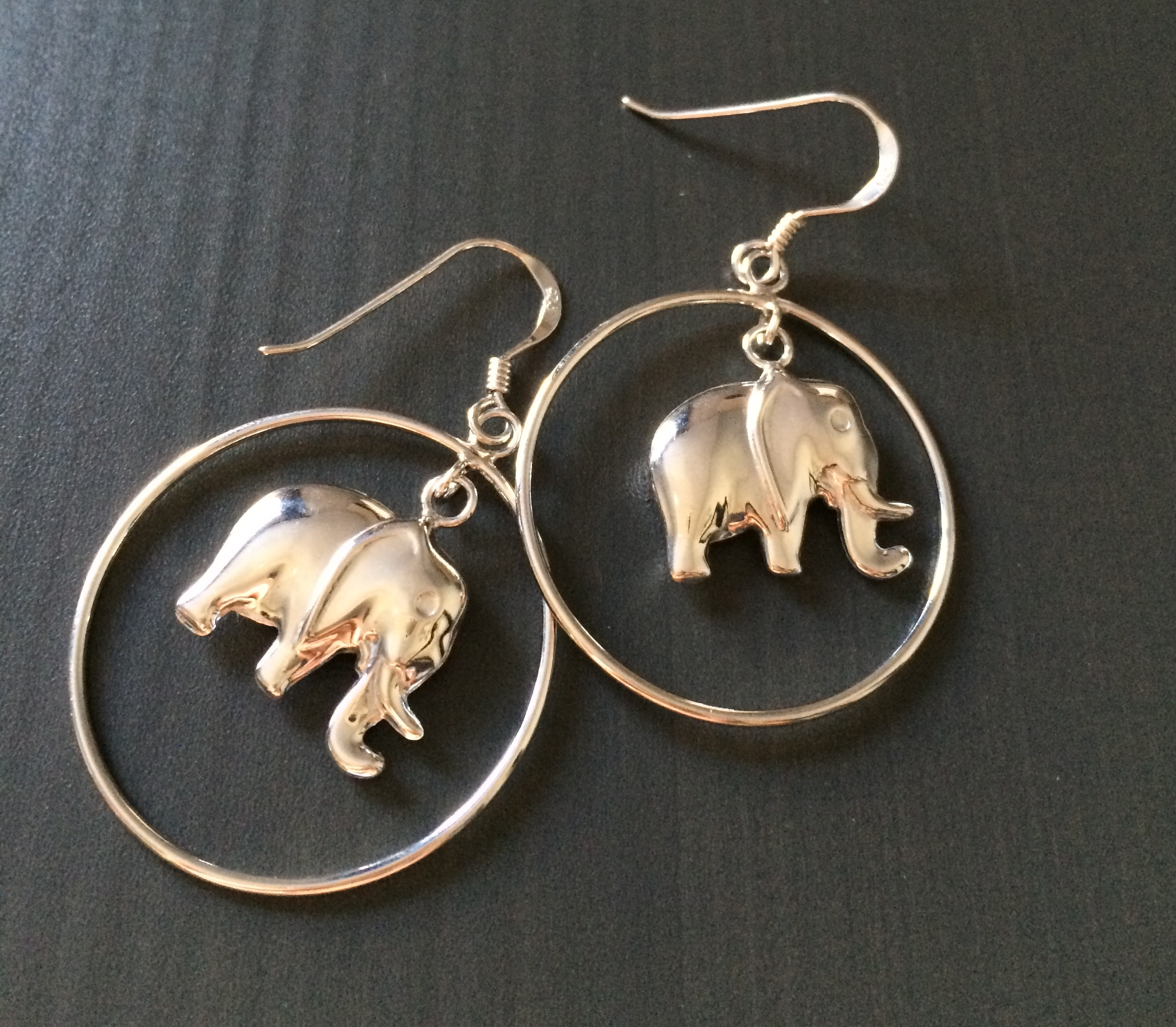 products white antique background silver elephant jaebee earrings jewelry